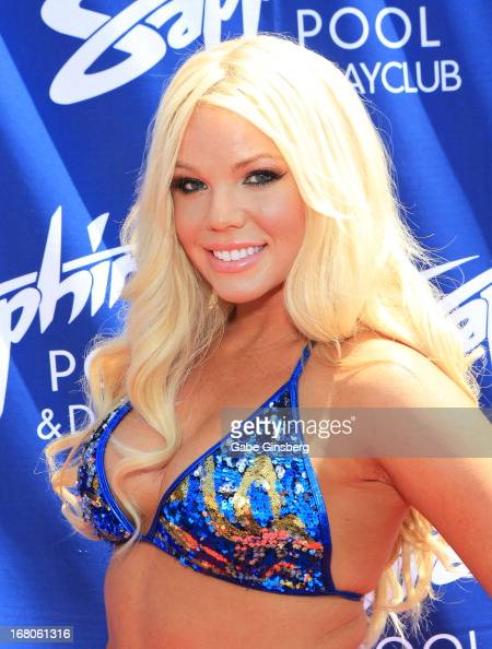 DJ/model Colleen Shannon arrives at the Sapphire Pool Day Club grand opening party on May 4 2013 in Las Vegas Nevada