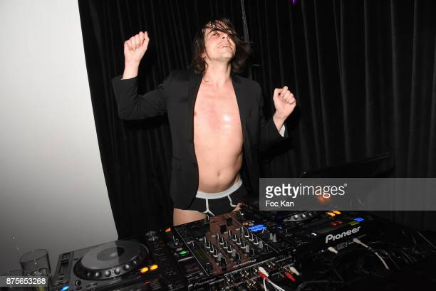 DJ/performer Gwenael Billaud aka Slip Talons plays during 'Le Temps Retrouve' Party at Les Bains on November 17 2017 in Paris France