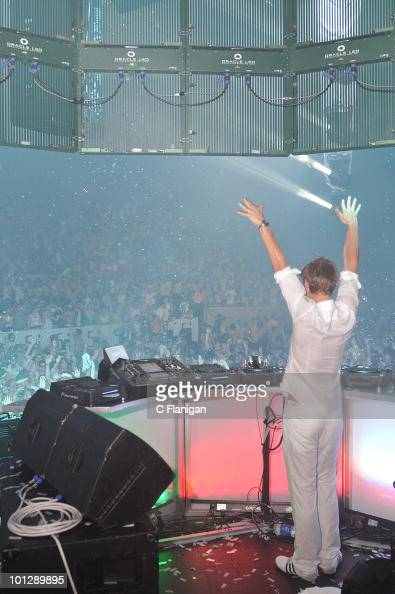 DJ/producer Armin van Buuren performs during the etdPOP Electronic Music Festival at Cow Palace on May 29 2010 in San Francisco California