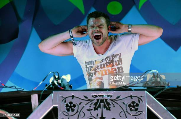 DJ/producer ATB performs at the 17th annual Electric Daisy Carnival at Las Vegas Motor Speedway on June 21 2013 in Las Vegas Nevada
