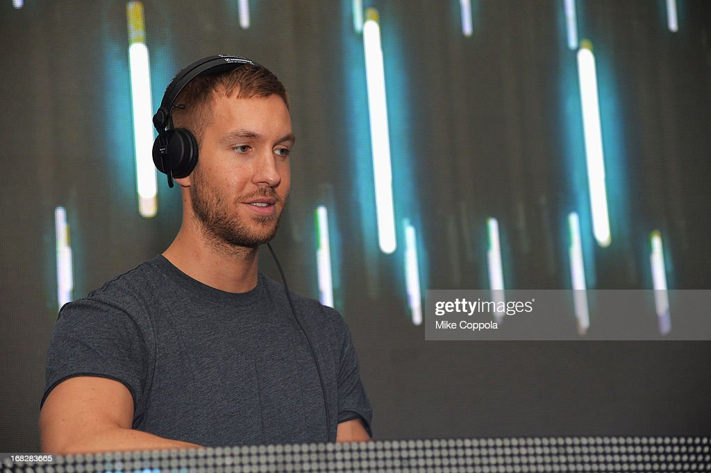 DJ/producer <a gi-track='captionPersonalityLinkClicked' href=/galleries/search?phrase=Calvin+Harris&family=editorial&specificpeople=4412722 ng-click='$event.stopPropagation()'>Calvin Harris</a> spins at DIRECTV's 2013 National Ad Sales Upfront on May 7, 2013 in New York City.