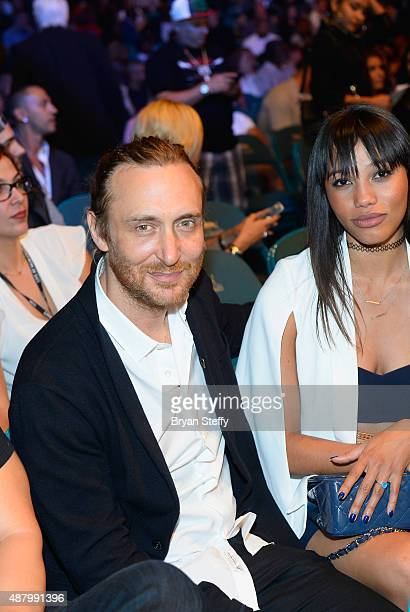 DJ/producer David Guetta attends the 'High Stakes Mayweather v Berto' fight presented by Showtime at MGM Grand Garden Arena on September 12 2015 in...