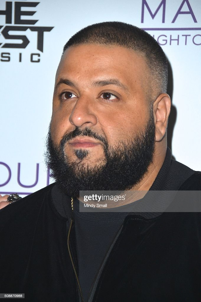 DJ/producer <a gi-track='captionPersonalityLinkClicked' href=/galleries/search?phrase=DJ+Khaled&family=editorial&specificpeople=577862 ng-click='$event.stopPropagation()'>DJ Khaled</a> arrives at the Marquee Nightclub at The Cosmopolitan of Las Vegas on February 7, 2016 in Las Vegas, Nevada.