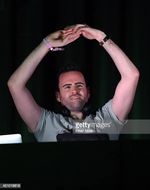 DJ/producer Gareth Emery performs during the 18th annual Electric Daisy Carnival at Las Vegas Motor Speedway on June 21 2014 in Las Vegas Nevada