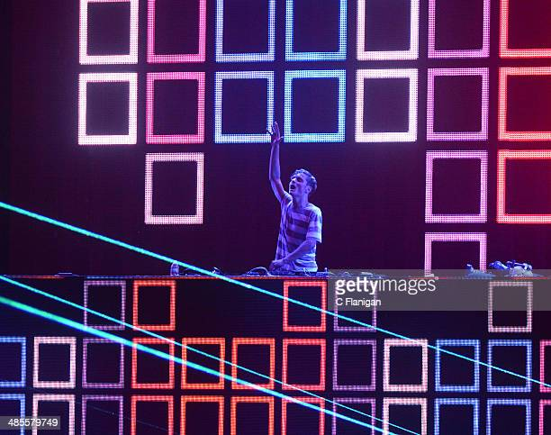 Producer Martin Garrix performs during the 2014 Coachella Valley Music And Arts Festival at The Empire Polo Club on April 18 2014 in Indio California