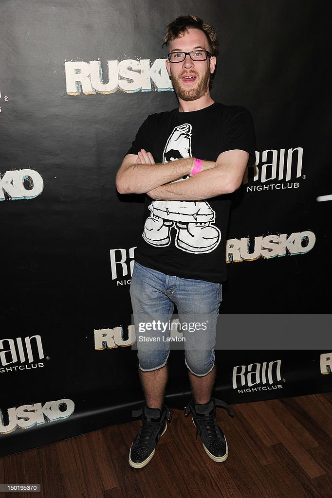 DJ/producer Rusko arrives to perform at Rain at Palms Resort & Casino on August 11, 2012 in Las Vegas, Nevada.
