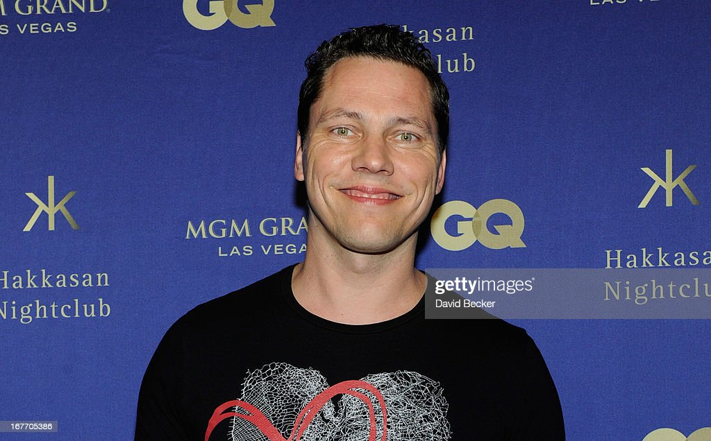 DJ/producer Tiesto arrives at the grand opening of Hakkasan Las Vegas Restaurant and Nightclub at the MGM Grand Hotel/Casino on April 27, 2013 in Las Vegas, Nevada.