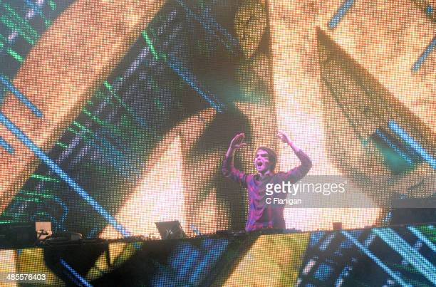 Producer ZEDD aka Anton Zaslavski performs during the 2014 Coachella Valley Music And Arts Festival at The Empire Polo Club on April 18 2014 in Indio...