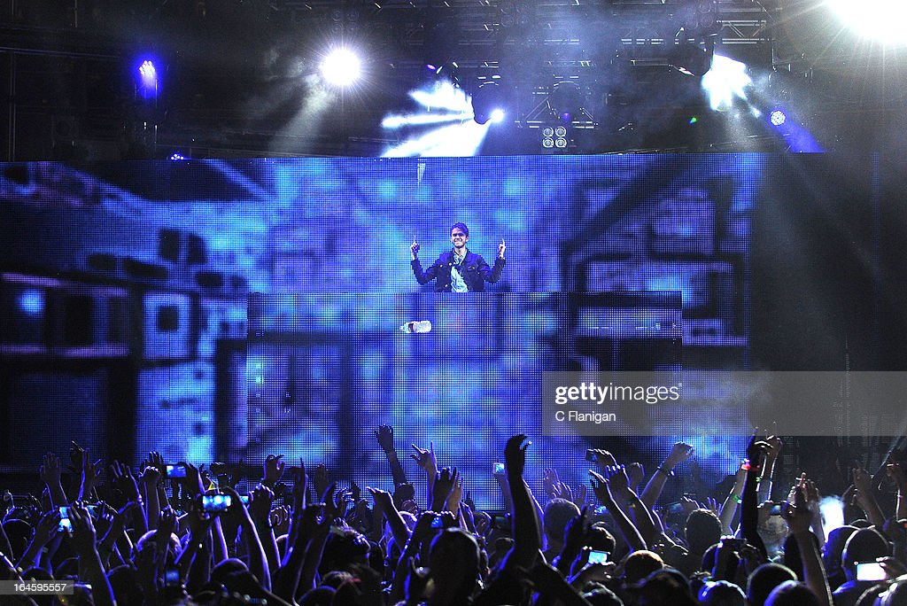 DJ/Producer ZEDD performs during the 2013 mtvU Woodie Awards on March 14, 2013 in Austin, Texas.