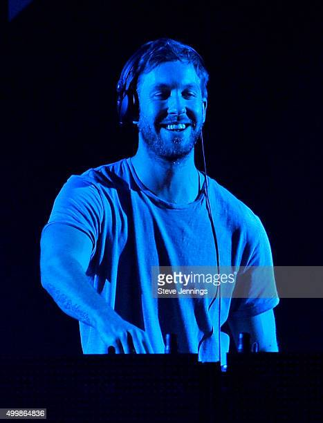 DJ/recording artist Calvin Harris performs onstage during WiLD 949's FM's Jingle Ball 2015 presented by Capital One at ORACLE Arena on December 3...
