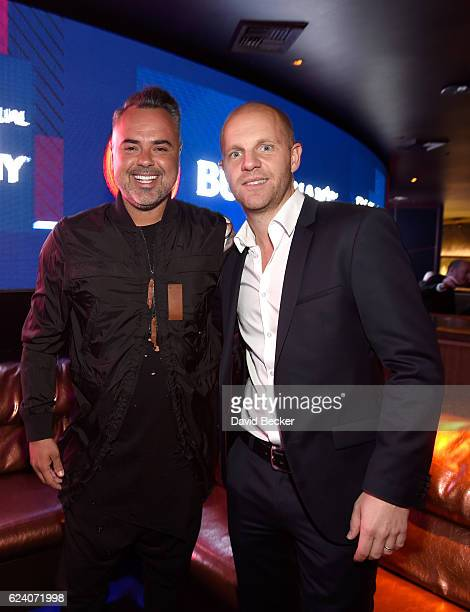 DJ/recording artist Juan Magan and guest attend the after party for the 17th annual Latin Grammy Awards at Hakkasan Las Vegas Restaurant and...