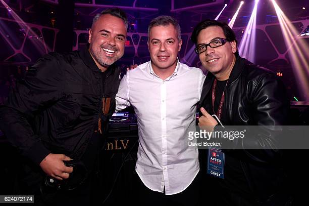 DJ/recording artist Juan Magan and guests attend the after party for the 17th annual Latin Grammy Awards at Hakkasan Las Vegas Restaurant and...
