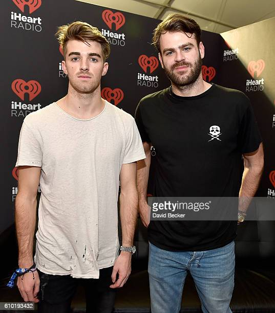 DJs Andrew Taggart and Alex Pall of The Chainsmokers attend the 2016 Daytime Village at the iHeartRadio Music Festival at the Las Vegas Village on...