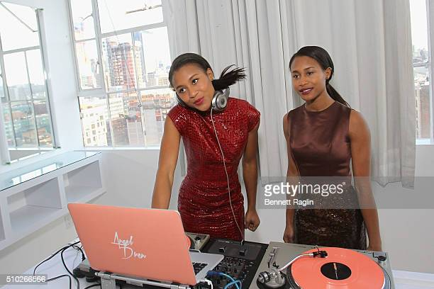 DJs angel dren perform at SheaMoisture at Laquan Smith F/W 2016 NYFW at Jack Studios on February 14 2016 in New York City