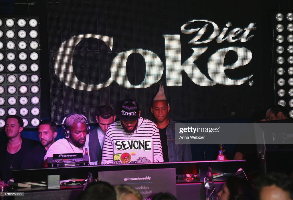DJs during Intouch Weekly's 'ICONS & IDOLS Party' on August 25, 2013 in New York, United States.