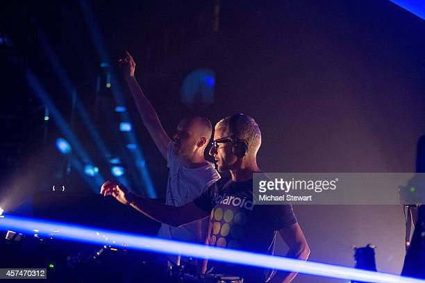 DJs Jono Grant and Tony McGuinness of Above Beyond performs at Madison Square Garden on October 18 2014 in New York City