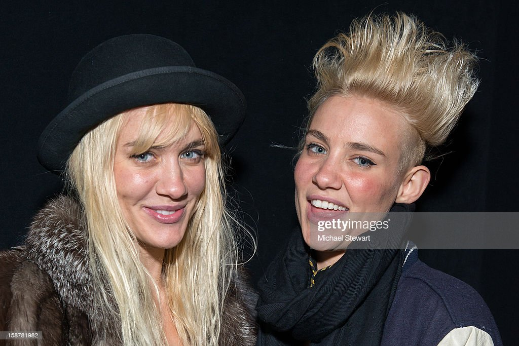DJs Liv Nervo (L) and Mim Nervo attend the 2012 Aokify NYC at Pier 94 on December 27, 2012 in New York City.