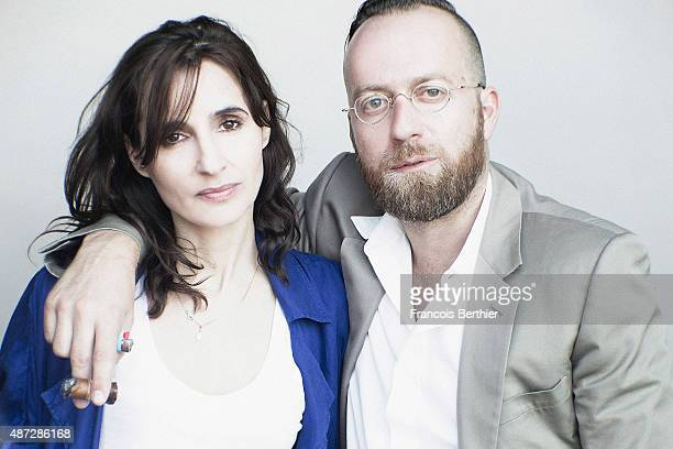 Djs Maud Geffray and Sebastien Chenut of Scratch Massive are photographed on September 7 2015 in Deauville France