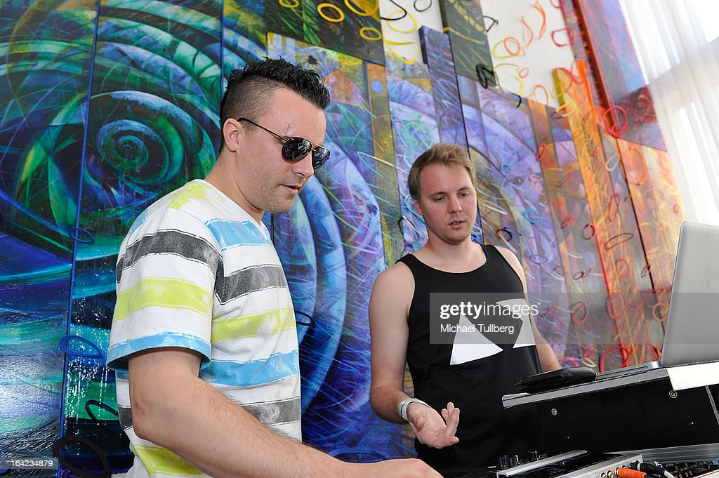 DJs Octane and Justin Murray attend Winter Music Conference 2013 on March 21, 2013 in Miami Beach, Florida.