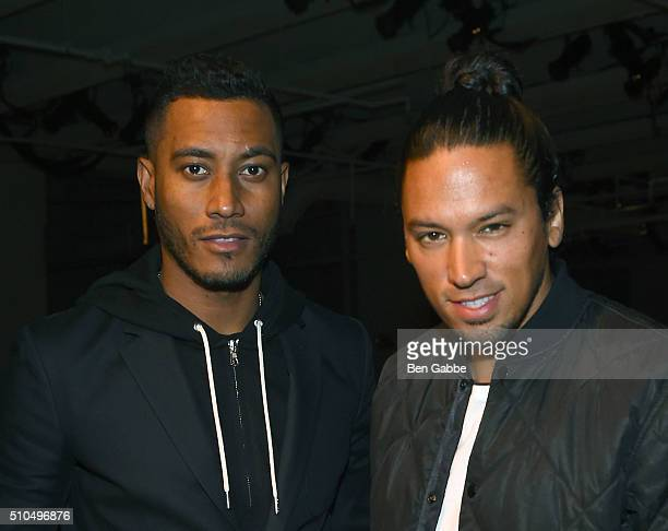 DJs Sunnery James and Ryan Marciano attend the rag bone Fall 2016 fashion show during New York Fashion Week on February 15 2016 in New York City