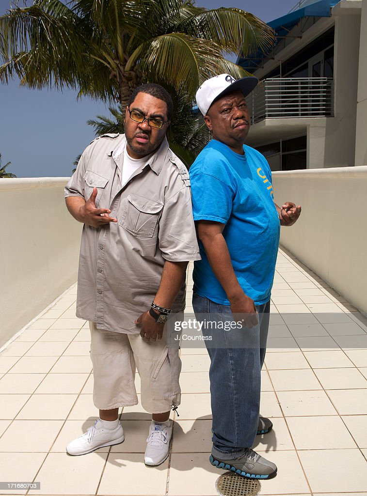 Dj's Teddy Ted and Special K pose during the 2013 American Black Film Festival on June 20, 2013 in Miami, Florida.