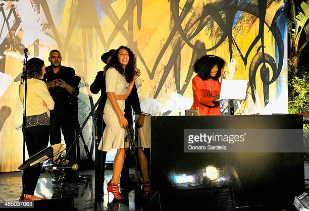 DJsinger Solange Knowles performs at Launch Of CHOO08 hosted by Jimmy Choo's Sandra Choi on April 15 2014 in Beverly Hills California