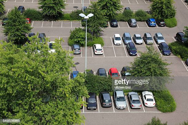 DKrefeld Rhine Lower Rhine Rhineland North RhineWestphalia NRW parking lot at the Stadthaus passenger cars aerial perspective