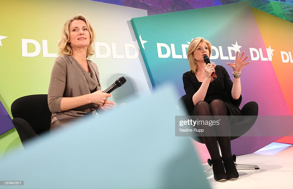 DLDwoman Chairwoman Maria Furtwaengler (L) and President and editor-in-chief of The Huffington Post Media Group, Arianna Huffington, speak during the Digital Life Design conference (DLD) at HVB Forum on January 24, 2012 in Munich, Germany. ence and culture which connects business, creative and social leaders, opinion-formers and investors for crossover conversation and inspiration.