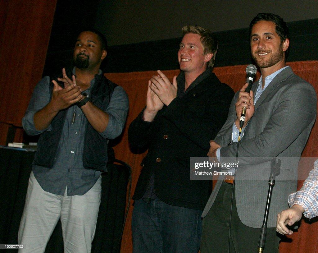 DLynn Procter, Ian Cauble and Brian McClintic attend a screening of the film 'Somm' at the 28th Santa Barbara International Film Festival on February 2, 2013 in Santa Barbara, California.