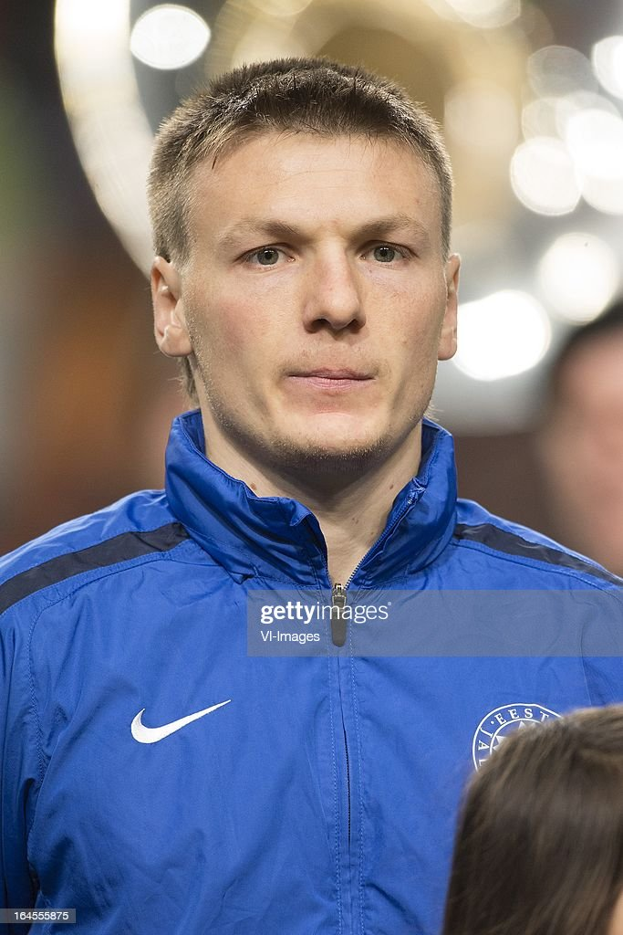 Dmitri Kruglov of Estonia during the FIFA 2014 World Cup qualifier match between the Netherlands and Estonia at the Amsterdam Arena on march 22, 2013 in Amsterdam, The Netherlands