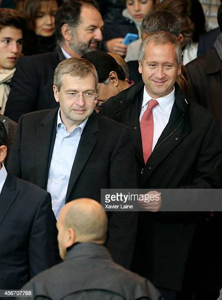 Dmitri Rybolovlev and Vadim Vasilyev attend the French Ligue 1 between Paris SaintGermain FC and AS Monaco FC at Parc Des Princes on October 05 2014...