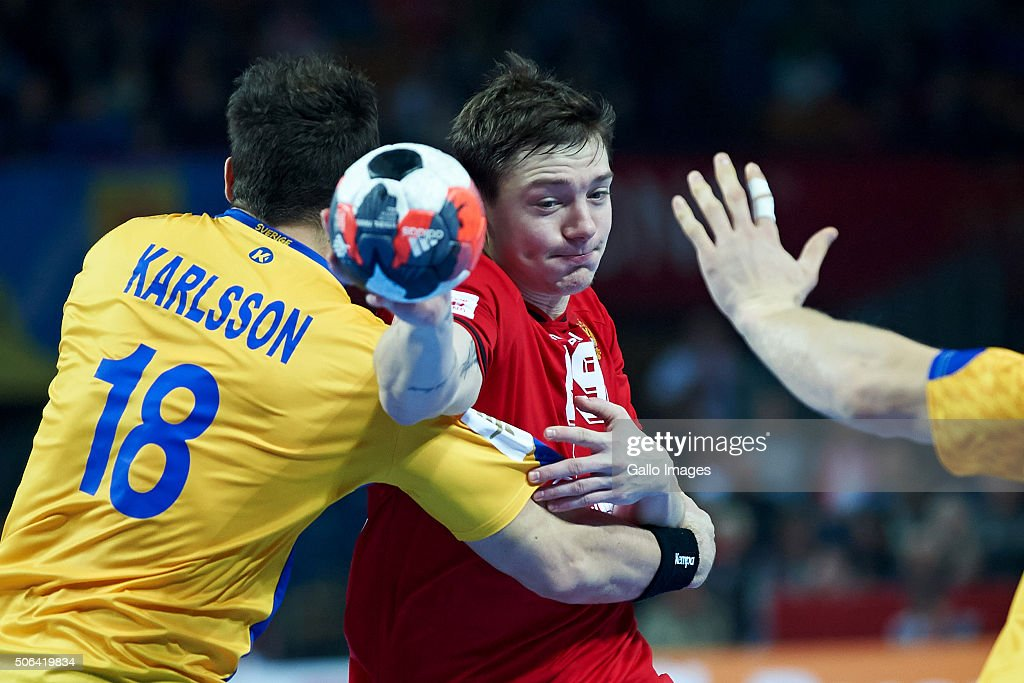 2016 EHF European Men's Handball Championship, Main Stage: Sweden v Russia