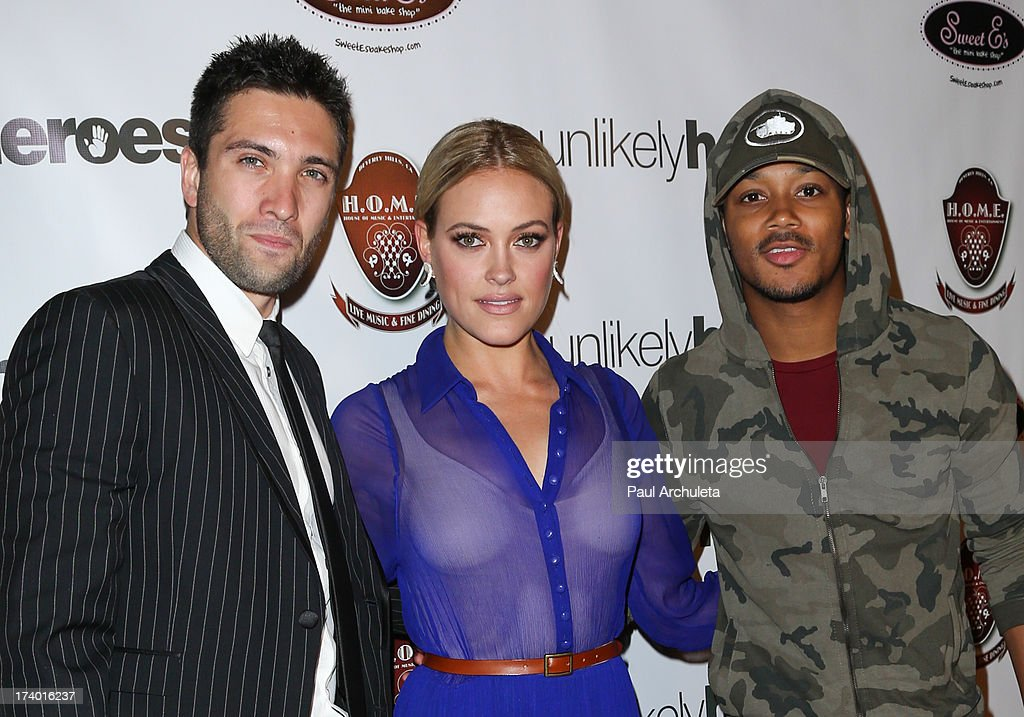 Dmitry Chaplin, Peta Murgatroyd and Romeo Miller attend the birthday celebration for Chelsie Hightower and Peta Murgatroyd and also supporting the 'Unlikely Heroes' charity organization on July 18, 2013 in Los Angeles, California.