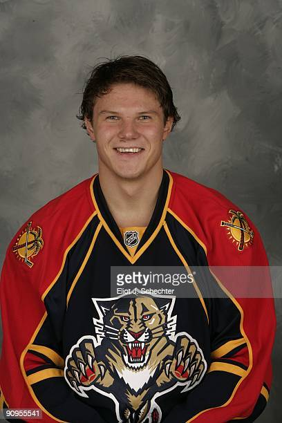 Dmitry Kulikov of the Florida Panthers poses for his official headshot for the 20092010 NHL season