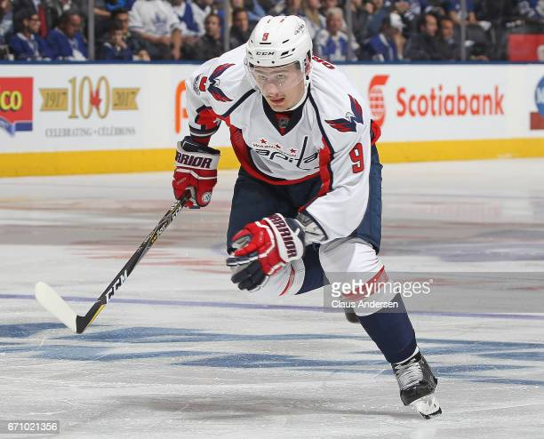 Dmitry Orlov of the Washington Capitals skates against the Toronto Maple Leafs in Game Four of the Eastern Conference Quarterfinals during the 2017...