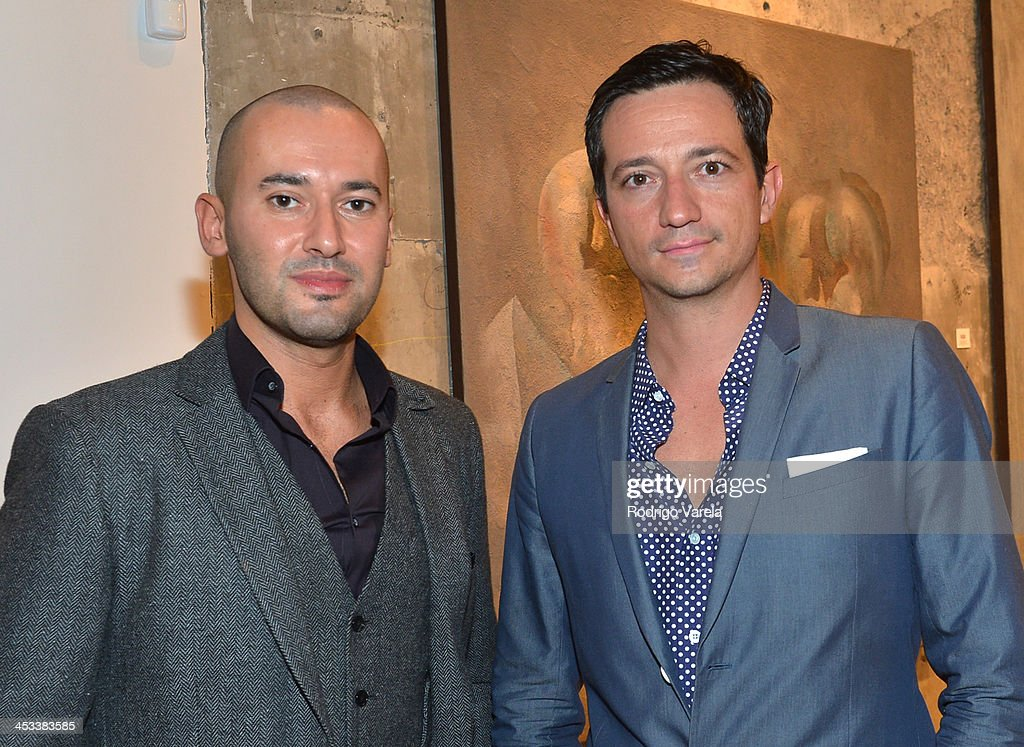 Dmitry Prut and Ciro Campagnoli attend the Roman Kriheli Un:veiled Exhibit At Avant Gallery, Featuring The Unveiling Of 'The Most Beautiful Woman In The World' Painting at Epic Hotel on December 3, 2013 in Miami, Florida.