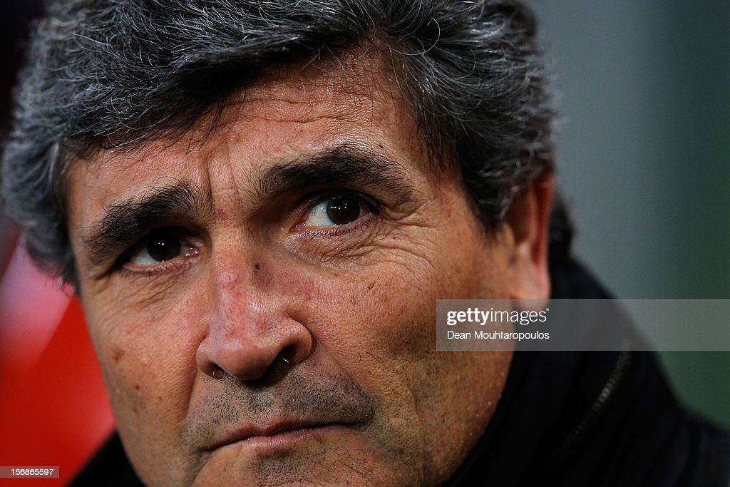 FC Dnipro Dnipropetrovsk Manager, Juande Ramos looks on during the UEFA Europa League Group F match between PSV Eindhoven and FC Dnipro Dnipropetrovsk at the Philips Stadion n November 22, 2012 in Eindhoven, Netherlands.
