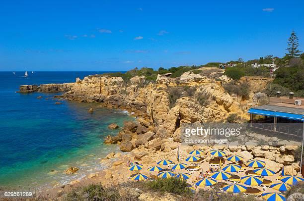 Do Castelo Beach Albufeira Praia Do Castelo Algarve Portugal Europe
