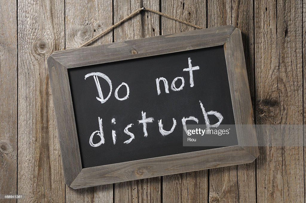 do not disturb : Stock Photo