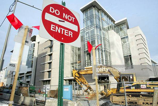 A 'Do Not Enter' sign sits in front of the stillunderconstruction new Washington Convention Center December 30 2002 in Washington DC The Convention...