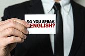 Do you speak English? sign