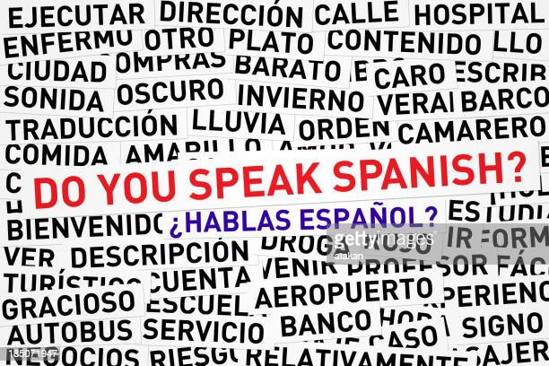 Do you speak Spanish banner across jumbled Spanish words