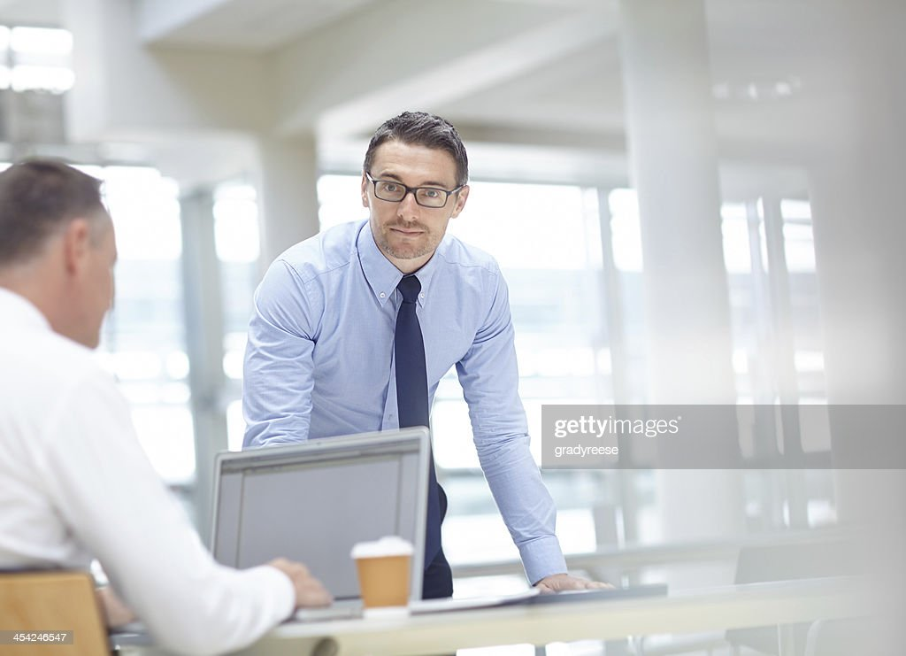 Do you think we're ready for this presentation? : Stock Photo