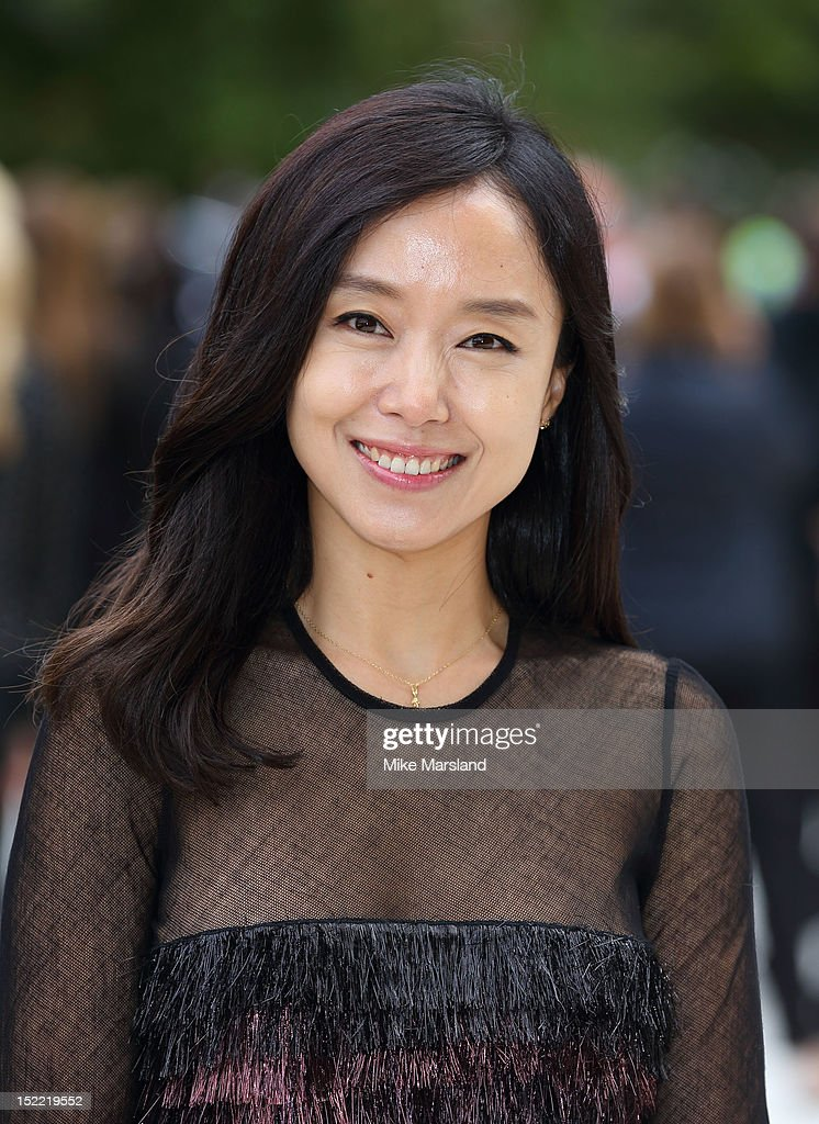 Do Youn Jeon attends the front row for the Burberry Prorsum show on day 4 of London Fashion Week Spring/Summer 2013 on September 17, 2012 in London, England.
