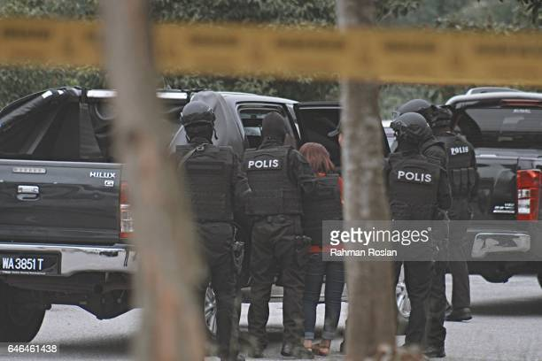 Doan Thi Huong one of the suspect leaves under heavy security presence at Sepang Magistrate Court on March 1st 2017 in Sepang Selangor Kim Jongnam...