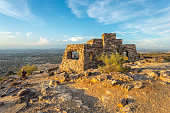 Dobbin's Lookout in Phoenix, Arizona. Built atop South Mountain by the Civilian Conservation Corps during the Great Depression, it is a popular destination for sightseers looking for a breathtaking vi