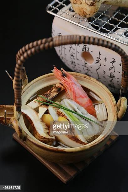 Dobin-mushi (Steamed dish in an earthenware teapot)
