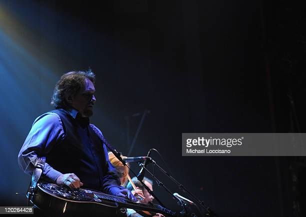 Dobro player Jerry Douglas of Alison Krauss Union Station performs at the Beacon Theatre on August 2 2011 in New York City