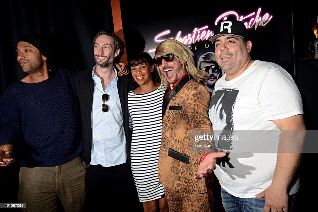 Doc Gyneco, Vincent Desagnat, Alicia Fall, Sebastien Patoche and Laurent Cohen attend 'Un Look D'Enfer' Sebastien Patoche Show Case Party at the Theatre du Renard on July 1, 2014 in Paris, France.