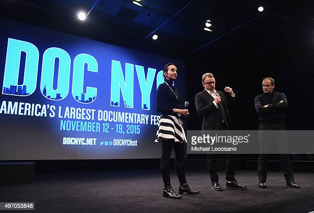 Doc NYC Executive Director Raphaela Neihausen and directors Nick Read and Mark Franchetti take part in a QA following the HBO Documentary Film...